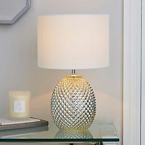 Table Lamps Bedside Lamps Desk Lights Dunelm In 2020 Mercury Glass Table Lamp Glass Table Lamp Glass Table