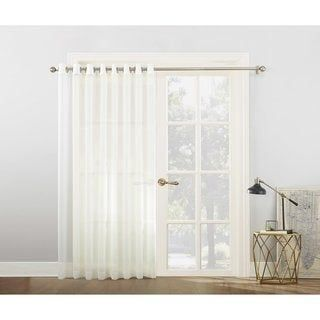 No 918 White Extra Wide Sheer Voile Sliding Door Patio Curtain Panel 100 X 84 Cream Ivory Polyeste In 2020 Panel Curtains Patio Door Curtains Kitchen Patio Doors