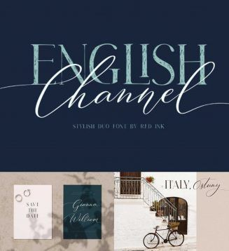 English Channel Duo Font Free Download In 2020 Free Script Fonts Free Font Free Fonts Download