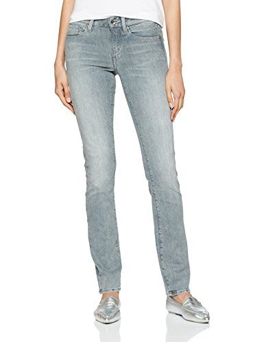 G Star Raw Damen Straight Jeans Midge Mid Wmn Grau Light Aged W29 L32 With Images Women Jeans Straight Jeans G Star