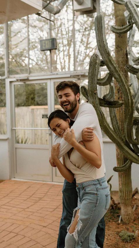 Adventurous greenhouse couple