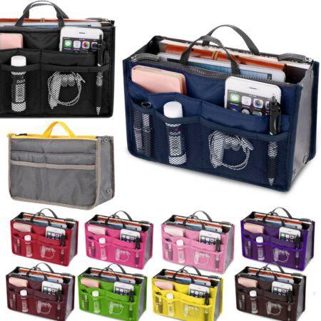 Womens Organizer Handbag Felt Travel Bag Insert Liner Purse Organiser Bags Pouch