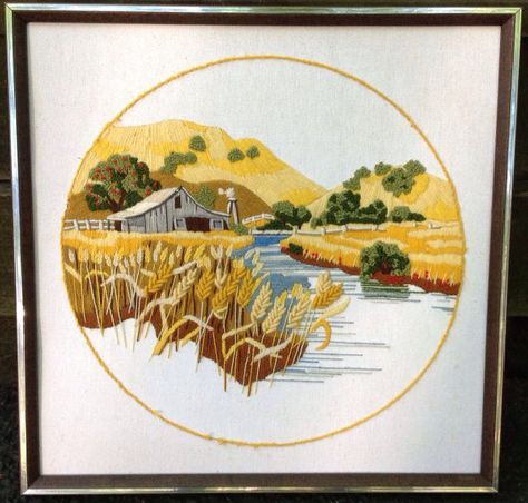 70s Crewel Embroidered Wall Hanging Art by TheDailyMuse on Etsy ...