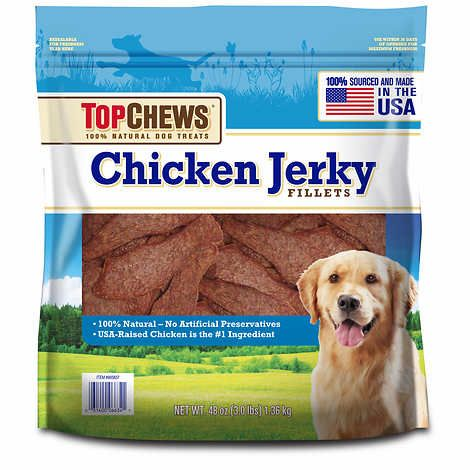 Top Chews Chicken Jerky All Natural Usa At Costco Natural Dog