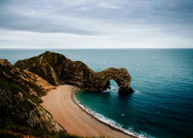 Landscape Durdledoor Jurassiccoast Seascape England Dorset Uk Seaside