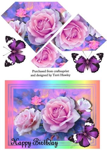 Cup908881 906 A Very Pretty Pyramid Card Front With Beautiful
