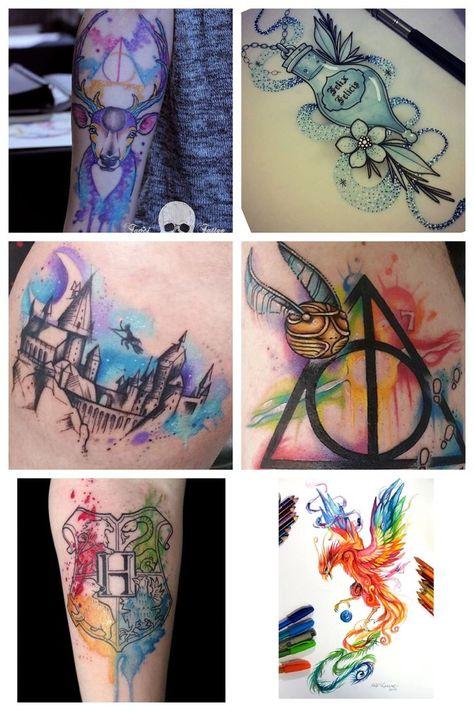 Resultado de imagem para harry potter tattoo flash