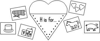 H is for-Beginning Sound Activity - repinned by @PediaStaff – Please Visit http://ht.ly/63sNt for all our pediatric therapy pins