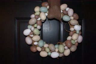 DIY Pier 1 egg wreath Tutorial