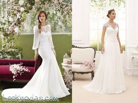 vestidos novia d´art con escotes fantasía | vestidos de novia