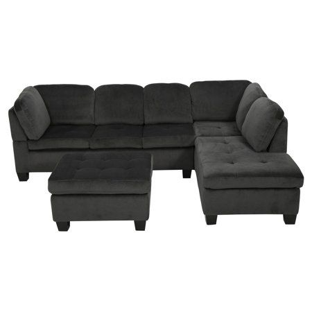 Free Shipping Buy Evan 3 Piece Sectional Sofa At Walmart Com 3 Piece Sectional Sofa Sectional Sofa Fabric Sectional Sofas