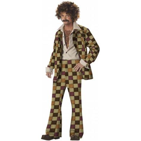 Buy California Costumes 194526 Disco Sleazeball Adult Costume - Brown - Medium at UnbeatableSale