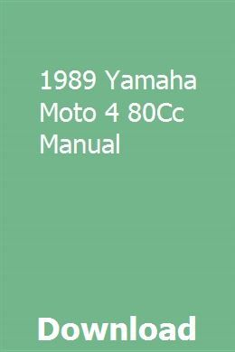 1989 Yamaha Moto 4 80cc Manual Owners Manuals Repair Manuals Yamaha Virago