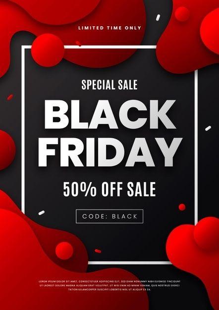 Download Flat Design Black Friday Flyer Template For Free In 2020 Black Friday Flyer Flyer Flyer Template