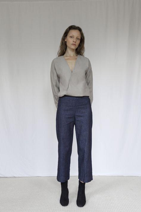 The Marshes Dark Blue Denim Trousers - XS