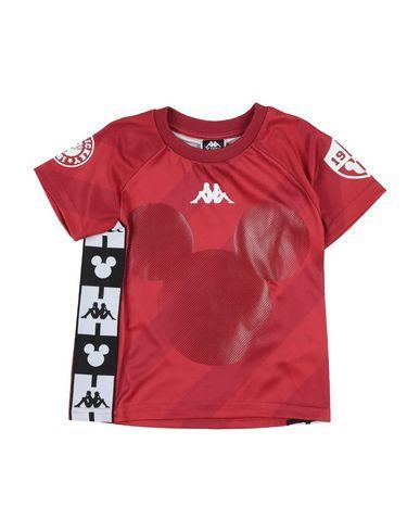 New Kappa Women's Banda Ringer T-Shirt Red