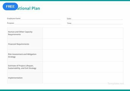 Free Operational Plan How To Plan Templates Template Design