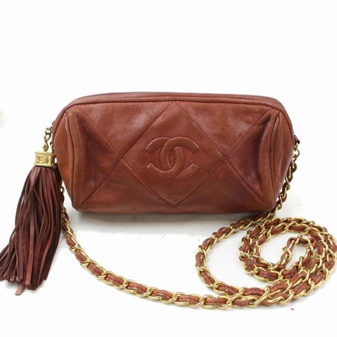 FORSALE Authentic Chanel Shoulder Bag Other Brown Leather 271757 -  174 75d9e3673ae92