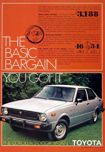 34mpg class 1975 Ford Mustang II Classic Vintage Car Advertisement Ad J40