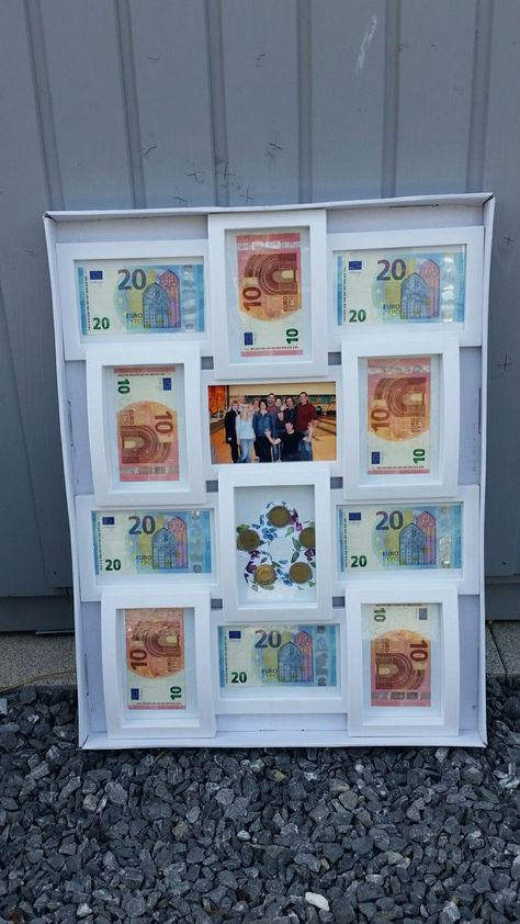 """Farewell gift for a colleague """"Money in the picture frame""""  #colleague #farewell #frame #money #picture"""