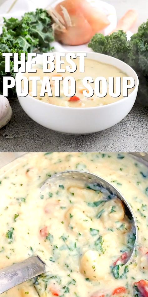 The Best Potato Soup…a thick , creamy, hearty soup that's absolutely delicious!