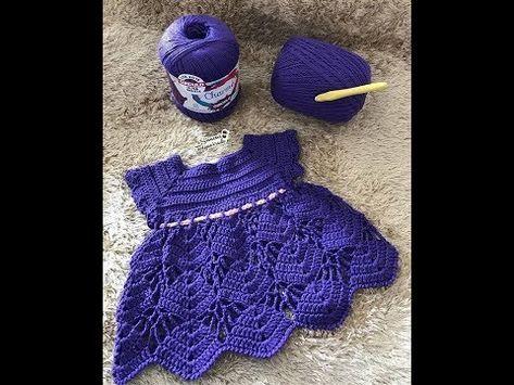 2af64aa9e5f3 Vestidinho de crochê para bebê de 3 a 6 meses - Parte 1 - YouTube ...