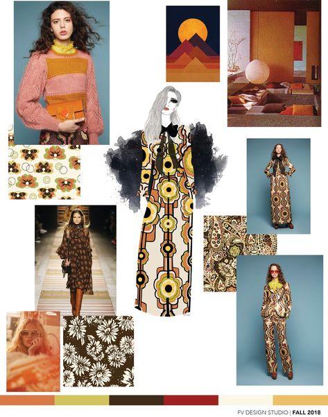SOURCE: Orla Kiely and Etro - Fall 2018 Fashion Illustration by FV contributor and design studio fashion illustrator Melanie Boychuk...
