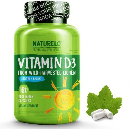 Vitamin D From Wild Harvested Lichen 2500 Iu 180 Capsules Walmart Com Vitamins Whole Foods Vegan Vegan Vitamins