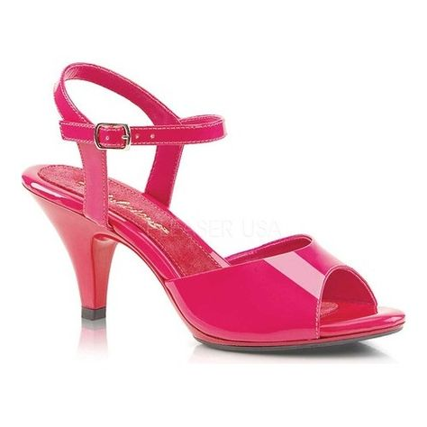 254cc35899f Women s Fabulicious Belle 309 Ankle-Strap Sandal - Hot Pink Patent Hot Pink  Heels