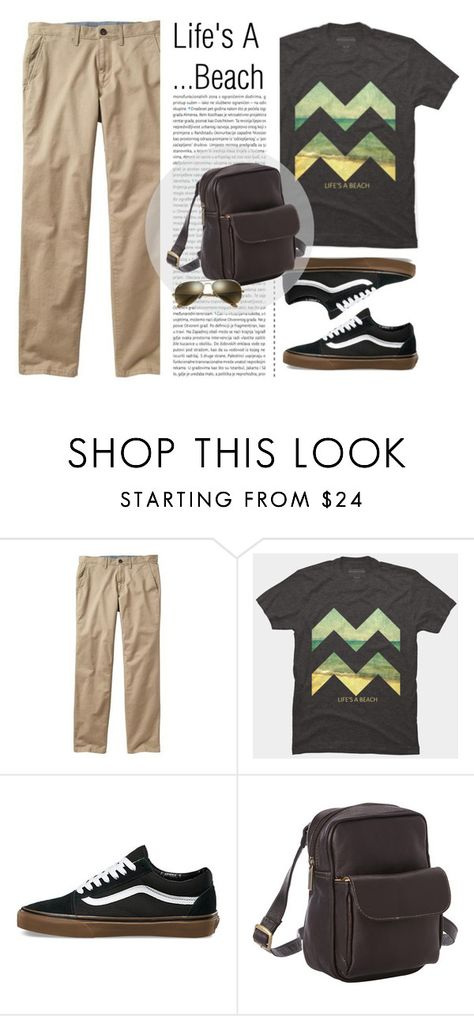 """Men's Fashion - Life's A Beach"" by by-jwp ❤ liked on Polyvore featuring Gap, Vans, Oris, Le Donne, Ray-Ban, men's fashion and menswear"