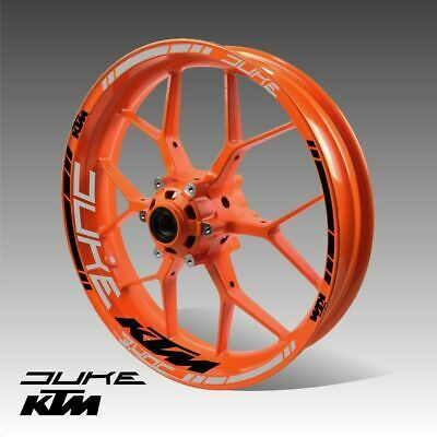 KTM DUKE 125 200 250 390 690 790 wheel decals tape stickers ktm duke rim stripes