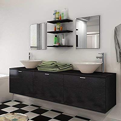 Vidaxl 10tlg Badmobel Set Waschbecken Wasserhahn Waschtisch
