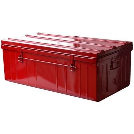 Pierre Henry Malle De Rangement Metallique Outdoor Storage Box Outdoor Decor Outdoor Furniture