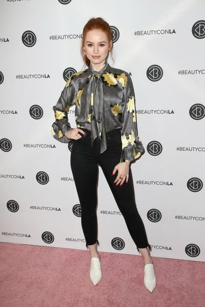Madelaine Petsch attends the Beautycon Festival LA 2018 at the Los Angeles Convention Center.