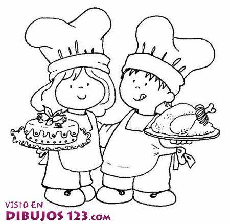 Resultado De Imagen Para Cocinero Y Cocinera Dibujos Ninos Chef Dibujos Para Ninos Dibujos De Cocineras