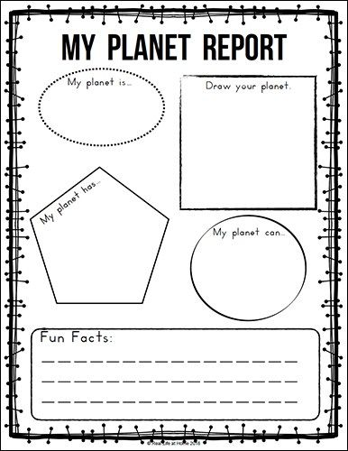 Free Solar System Printables Packet for Elementary Students ...
