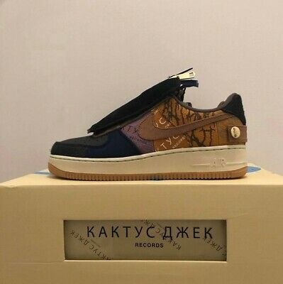 Ad Ebay Travis Scott X Nikek Air Force 1 Cactus Jack Low Sz 10