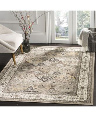 Safavieh Atlas Silver And Ivory 5 3 X 7 7 Area Rug Traditional
