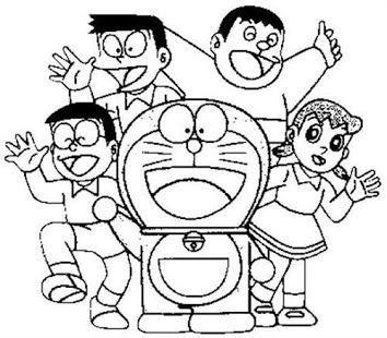 How To Draw Doraemon Dinosaur Coloring Pages Cute Cartoon Drawings Cartoon Coloring Pages