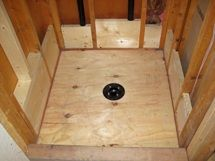Single Curb Shower Pan Kits Ready to tile shower pans and shower ...