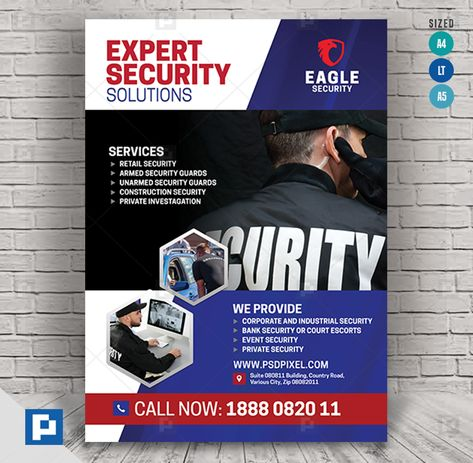 Security Services Promotional Flyer - PSDPixel