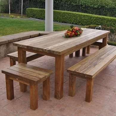 Patio Furniture Wood Table