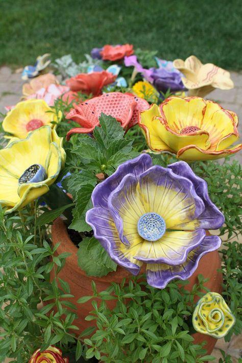 40 Topfern Ideen Fur Den Garten Und Als Einzigartiges Geschenk Tonblumen Selber Machen Handwerk Einzigartige Geschenke