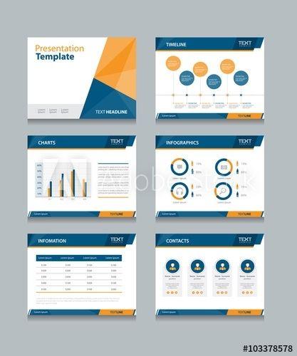 Business Presentation Template Set Powerpoint Template