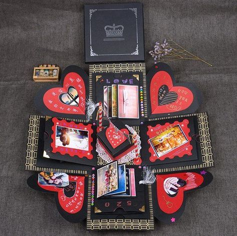 EBG-15*15cm Personalized photo gift, explosion box, Valentine's Day gift for couples, love gift, eng