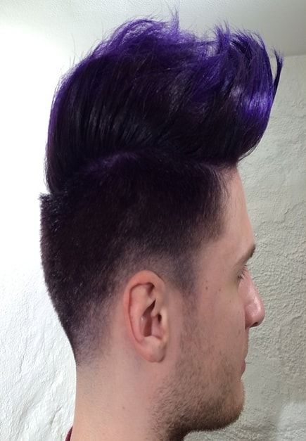 Pin By Lotrybuston On Men S Hairstyles Bright Hair Colors Men Hair Color Long Purple Hair