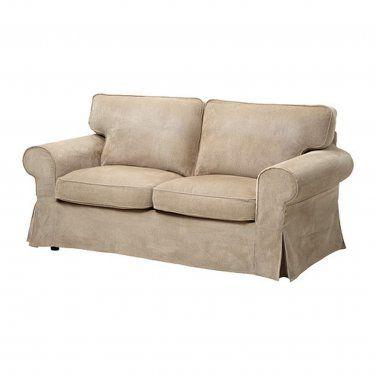 IKEA EKTORP Loveseat and Chaise Lounge Sofa SLIPCOVER Cover VELLINGE BEIGE