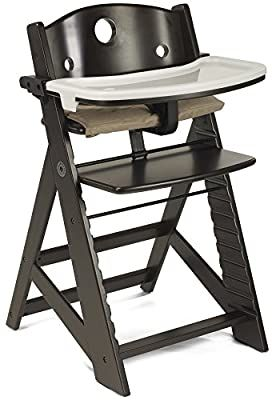Amazon Com Keekaroo Height Right Highchair With Tray Espresso Base Baby In 2020 Wooden High Chairs Baby High Chair High Chair