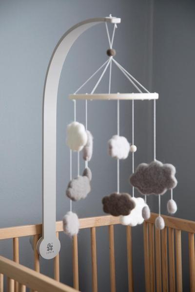 Sebra Mobile Holder In Warm Grey Baby
