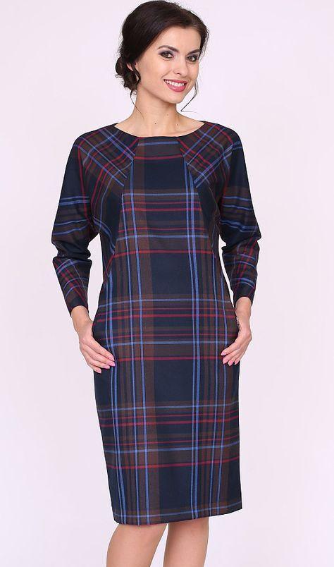 Plaid dress with pockets un seams.